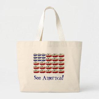 Todo el tote americano del remolque de Shasta Bolsas
