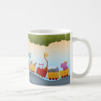 Todo el tren a bordo animal taza de café