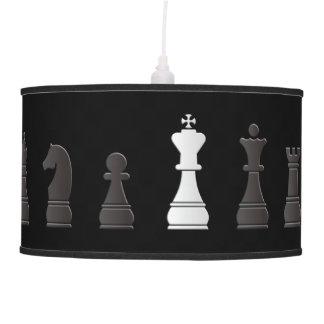 Todo el un blanco negro, pedazos de ajedrez lámpara de techo