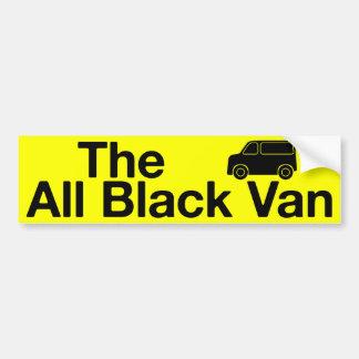 Todo el Van negro: pegatina para el parachoques am Etiqueta De Parachoque