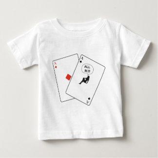 Todo en bolsillo Aces el póker del bebé de la Playera De Bebé