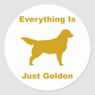 Todo es apenas de oro pegatina redonda