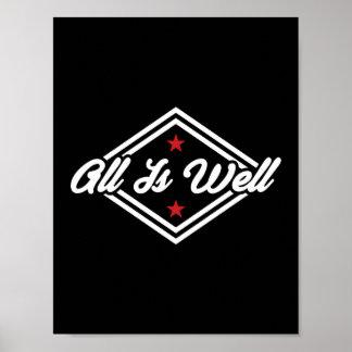 Todo es bien negro rojo blanco adaptable de la póster