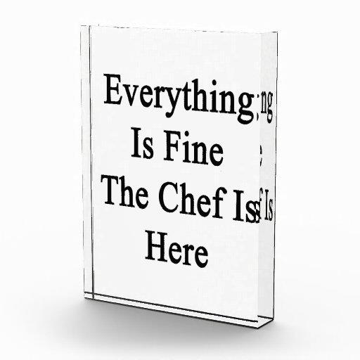 Todo es el cocinero está muy bien aquí