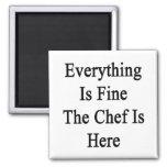 Todo es el cocinero está muy bien aquí iman de nevera