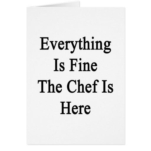 Todo es el cocinero está muy bien aquí tarjeta