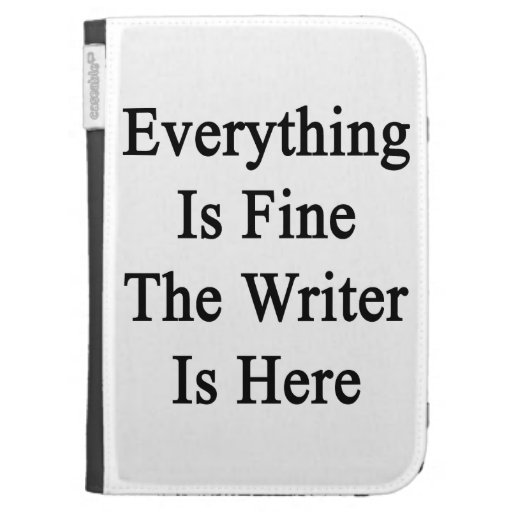 Todo es el escritor está muy bien aquí