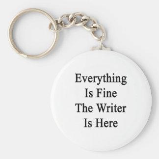 Todo es el escritor está muy bien aquí llaveros