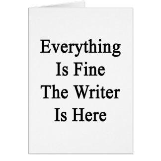 Todo es el escritor está muy bien aquí felicitación