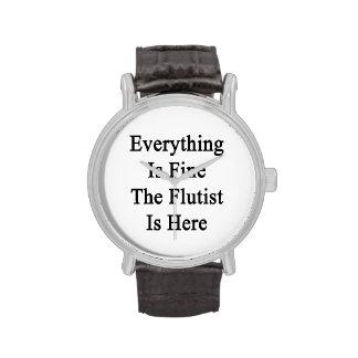 Todo es el flautista está muy bien aquí relojes de pulsera
