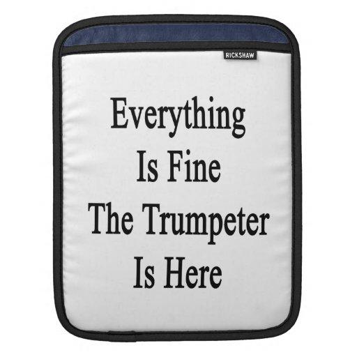 Todo es el trompetista está muy bien aquí funda para iPads