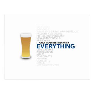 Todo es mejor con la cerveza tarjeta postal