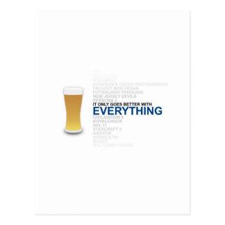 Todo es mejor con la cerveza postal