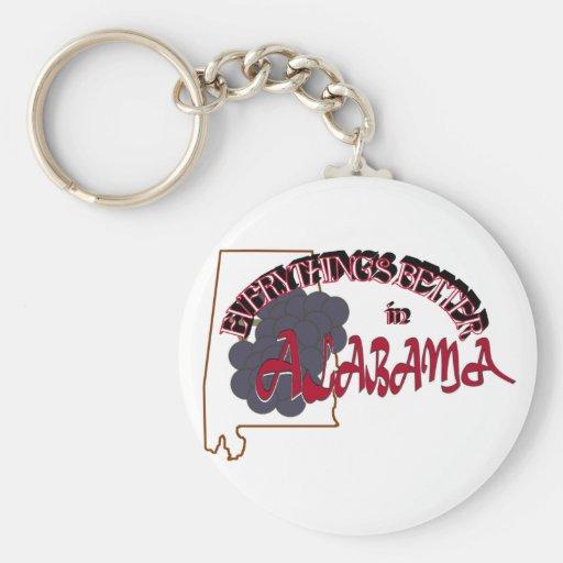 Todo es mejor en el llavero de Alabama
