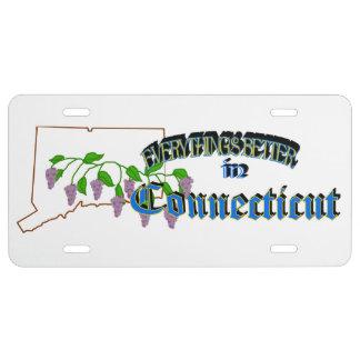 Todo es mejor en la placa de Connecticut Placa De Matrícula