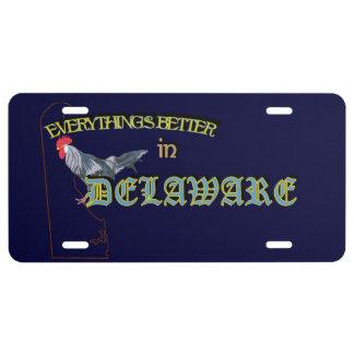 Todo es mejor en la placa de Delaware Placa De Matrícula
