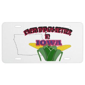 Todo es mejor en la placa de Iowa Placa De Matrícula