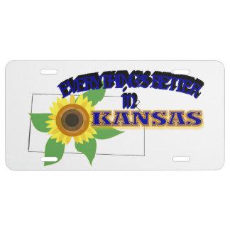 Todo es mejor en la placa de Kansas Placa De Matrícula