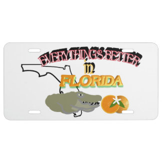 Todo es mejor en la placa de la Florida Placa De Matrícula