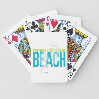 Todo es mejor en la playa baraja de cartas bicycle