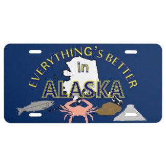 Todo es mejor en los gráficos de Alaska Placa De Matrícula
