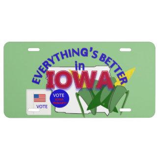 Todo es mejor en los gráficos de Iowa Placa De Matrícula