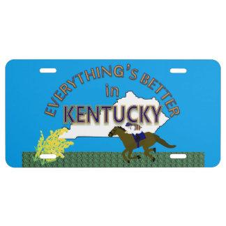 Todo es mejor en los gráficos de Kentucky Placa De Matrícula