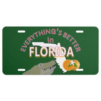 Todo es mejor en los gráficos de la Florida Placa De Matrícula