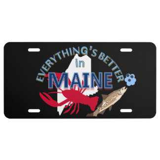 Todo es mejor en los gráficos de Maine Placa De Matrícula