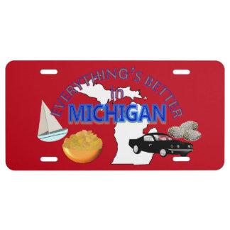 Todo es mejor en Michigan Placa De Matrícula