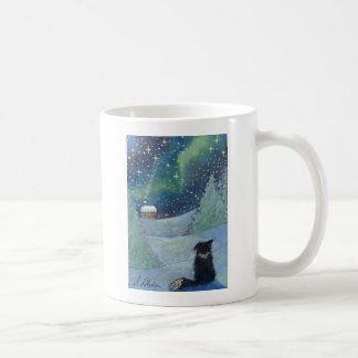 Todo es perro brillante del border collie taza de café