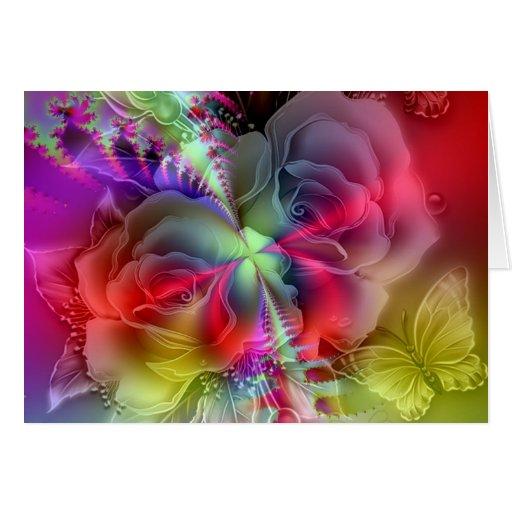 Todo es rosas que suben tarjeta de felicitación