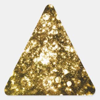 Todo ese brillos pegatina triangular