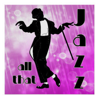 Todo ese jazz en rosa póster