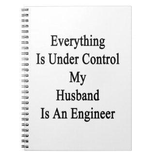 Todo está bajo control que mi marido es un Engin Spiral Notebooks