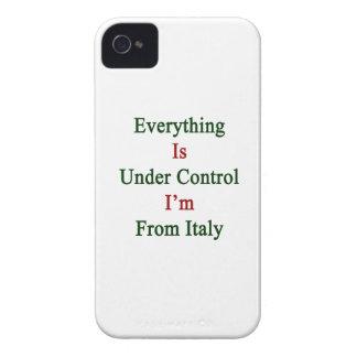 Todo está bajo control que soy de Italia iPhone 4 Carcasas