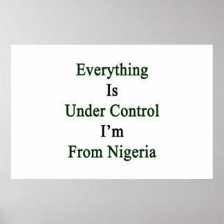 Todo está bajo control que soy de Nigeria Póster