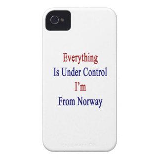 Todo está bajo control que soy de Noruega iPhone 4 Case-Mate Carcasa