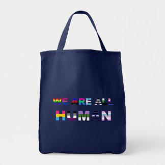 Todo humano bolsa tela para la compra