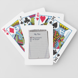 Todo List Bicycle Playing Cards