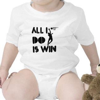 Todo lo que lo hago es triunfo en el Netball Traje De Bebé