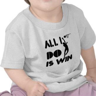 Todo lo que lo hago es triunfo en el Netball Camisetas