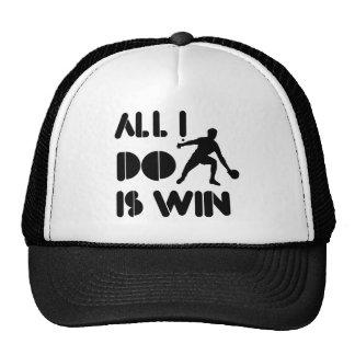 Todo lo que lo hago es triunfo en el ping-pong gorras
