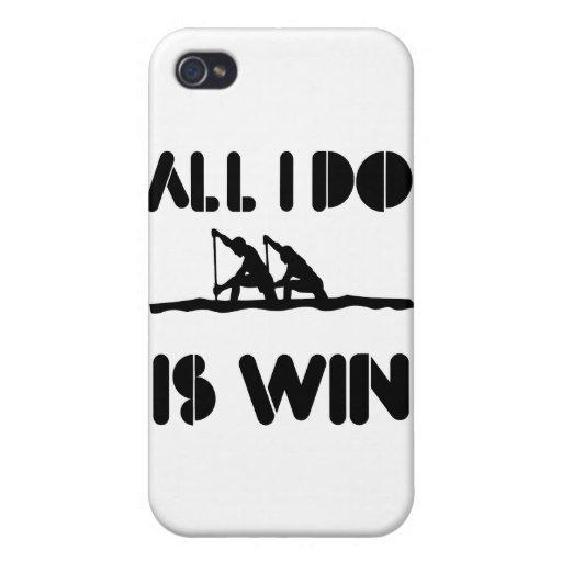 Todo lo que lo hago es triunfo en el Rowing iPhone 4/4S Carcasas