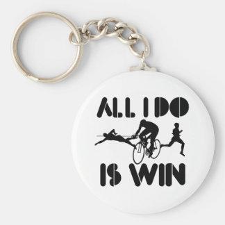 Todo lo que lo hago es triunfo en el Triathlon Llavero Redondo Tipo Pin