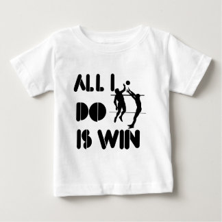 Todo lo que lo hago es triunfo en el voleibol playera de bebé