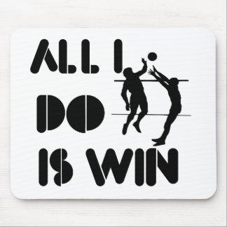 Todo lo que lo hago es triunfo en el voleibol alfombrilla de ratón
