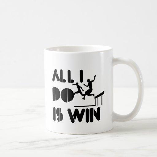 Todo lo que lo hago es triunfo en la carrera de taza de café