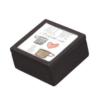 Todo lo que necesitamos es amor y café cajas de regalo de calidad