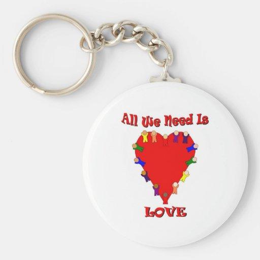 Todo lo que necesitamos es llavero del amor